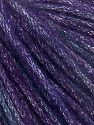 Fiber Content 40% Acrylic, 30% Wool, 30% Metallic Lurex, Purple Shades, Brand Ice Yarns, Yarn Thickness 4 Medium  Worsted, Afghan, Aran, fnt2-65931