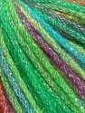 Fiber Content 40% Acrylic, 30% Wool, 30% Metallic Lurex, Turquoise, Purple, Brand Ice Yarns, Green Shades, Fuchsia, Yarn Thickness 4 Medium  Worsted, Afghan, Aran, fnt2-65933