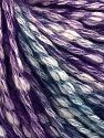 Fiber Content 77% Cotton, 23% Acrylic, Turquoise, Purple, Brand Ice Yarns, Yarn Thickness 4 Medium  Worsted, Afghan, Aran, fnt2-65973