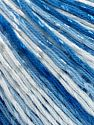 Fiber Content 70% Mercerised Cotton, 30% Viscose, White, Brand Ice Yarns, Blue Shades, Yarn Thickness 2 Fine  Sport, Baby, fnt2-65999