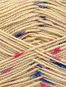Fiber Content 100% Acrylic, Pink Shades, Khaki, Brand Ice Yarns, Dark Cream, Blue, Yarn Thickness 2 Fine  Sport, Baby, fnt2-66056