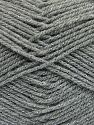 Fiber Content 94% Acrylic, 6% Metallic Lurex, Brand Ice Yarns, Grey, Yarn Thickness 3 Light  DK, Light, Worsted, fnt2-66064