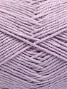 Fiber Content 50% Cotton, 50% Acrylic, Light Lilac, Brand Ice Yarns, Yarn Thickness 2 Fine  Sport, Baby, fnt2-66115