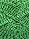 Fiber Content 50% Cotton, 50% Acrylic, Brand Ice Yarns, Green, Yarn Thickness 2 Fine  Sport, Baby, fnt2-66119