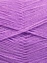 Very thin yarn. It is spinned as two threads. So you will knit as two threads. Yardage information is for only one strand. Fiber Content 100% Acrylic, Light Lilac, Brand Ice Yarns, Yarn Thickness 1 SuperFine  Sock, Fingering, Baby, fnt2-66172