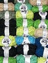 Samba Ribbon In this list; you see most recent 50 mixed lots. <br> To see all <a href=&amp/mixed_lots/o/4#list&amp>CLICK HERE</a> (Old ones have much better deals)<hr> This mixed lot includes a total of 2000 gr (70.5 oz.) yarn. There is no standard for ball weight. You will get what you see in the photo. Fiber Content 100% Acrylic, Brand Ice Yarns, fnt2-66322