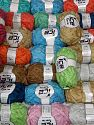 Samba Ribbon In this list; you see most recent 50 mixed lots. <br> To see all <a href=&amp/mixed_lots/o/4#list&amp>CLICK HERE</a> (Old ones have much better deals)<hr> This mixed lot includes a total of 2000 gr (70.5 oz.) yarn. There is no standard for ball weight. You will get what you see in the photo. Fiber Content 100% Acrylic, Brand Ice Yarns, fnt2-66384