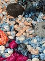 Leftover Yarns In this list; you see most recent 50 mixed lots. <br> To see all <a href=&amp/mixed_lots/o/4#list&amp>CLICK HERE</a> (Old ones have much better deals)<hr> This mixed lot includes unlabeled leftover yarns. There is no standard for fiber content and ball weight. The total weight is 2000 gr (70.5 oz.). You will get what you see in the photo. Brand Ice Yarns, fnt2-66453