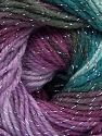 Fiber Content 95% Acrylic, 5% Lurex, Turquoise Shades, Maroon, Lilac Shades, Brand Ice Yarns, Yarn Thickness 3 Light  DK, Light, Worsted, fnt2-66561