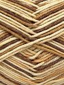 Fiber Content 50% Acrylic, 50% Cotton, Brand Ice Yarns, Cream, Camel, Brown, Yarn Thickness 2 Fine  Sport, Baby, fnt2-66575