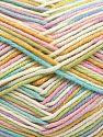 Fiber Content 50% Cotton, 50% Acrylic, Pastel Rainbow, Brand Ice Yarns, Yarn Thickness 2 Fine  Sport, Baby, fnt2-66583