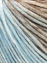 Modal is a type of yarn which is mixed with the silky type of fiber. It is derived from the beech trees. Fiber Content 74% Modal, 26% Wool, Brand Ice Yarns, Brown Shades, Baby Blue, Yarn Thickness 3 Light  DK, Light, Worsted, fnt2-66593