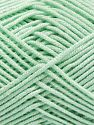 Fiber Content 50% Acrylic, 50% Bamboo, Light Mint Green, Brand Ice Yarns, Yarn Thickness 2 Fine  Sport, Baby, fnt2-66602