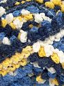 Fiber Content 50% Acrylic, 50% Polyamide, Yellow, White, Navy, Brand Ice Yarns, Blue, Yarn Thickness 6 SuperBulky  Bulky, Roving, fnt2-66625