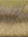 Fiber Content 70% Metallic Lurex, 30% Cotton, Brand Ice Yarns, Gold, Yarn Thickness 1 SuperFine  Sock, Fingering, Baby, fnt2-66887