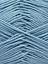 Fiber Content 100% Mercerised Giza Cotton, Light Blue, Brand Ice Yarns, Yarn Thickness 2 Fine  Sport, Baby, fnt2-66947