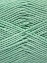 Fiber Content 50% Acrylic, 50% Cotton, Light Mint Green, Brand Ice Yarns, Yarn Thickness 2 Fine  Sport, Baby, fnt2-67020