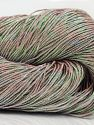 Please note that this is a hand-dyed yarn. Colors in different lots may vary because of the charateristics of the yarn. Also see the package photos for the colorway in full; as skein photos may not show all colors. Fiber Content 60% Metallic Lurex, 40% Cotton, Pink, Brand Ice Yarns, fnt2-67073