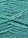 Fiber Content 76% Acrylic, 14% Cotton, 10% Bamboo, Light Turquoise, Brand Ice Yarns, Cream, fnt2-67093