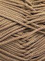 Width is 2-3 mm Contenido de fibra 100% Poliéster, Brand Ice Yarns, Camel, fnt2-67139