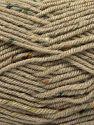 Fiber Content 75% Premium Acrylic, 5% Viscose, 20% Wool, Brand Ice Yarns, Dark Beige, Yarn Thickness 4 Medium  Worsted, Afghan, Aran, fnt2-67164