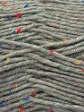 Fiber Content 75% Premium Acrylic, 5% Viscose, 20% Wool, Light Grey, Brand Ice Yarns, Yarn Thickness 4 Medium  Worsted, Afghan, Aran, fnt2-67167