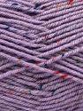 Fiber Content 75% Premium Acrylic, 5% Viscose, 20% Wool, Lilac, Brand Ice Yarns, Yarn Thickness 4 Medium  Worsted, Afghan, Aran, fnt2-67171