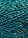 Fiber Content 75% Premium Acrylic, 5% Viscose, 20% Wool, Brand Ice Yarns, Dark Teal, Yarn Thickness 4 Medium  Worsted, Afghan, Aran, fnt2-67176