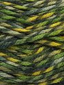 Fiber Content 75% Premium Acrylic, 25% Wool, Brand Ice Yarns, Green Shades, Yarn Thickness 5 Bulky  Chunky, Craft, Rug, fnt2-67180