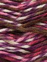 Fiber Content 75% Premium Acrylic, 25% Wool, White, Purple, Pink, Brand Ice Yarns, Brown, Yarn Thickness 5 Bulky  Chunky, Craft, Rug, fnt2-67184