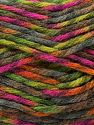 Fiber Content 75% Premium Acrylic, 25% Wool, Orange, Brand Ice Yarns, Green Shades, Fuchsia, Yarn Thickness 5 Bulky  Chunky, Craft, Rug, fnt2-67193