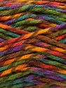 Fiber Content 75% Premium Acrylic, 25% Wool, Rainbow, Brand Ice Yarns, Yarn Thickness 5 Bulky  Chunky, Craft, Rug, fnt2-67194