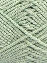 Fiber Content 100% Cotton, Mint Green, Brand Ice Yarns, Yarn Thickness 4 Medium  Worsted, Afghan, Aran, fnt2-67337