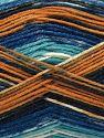 Fiber Content 75% Superwash Wool, 25% Polyamide, Turquoise, Navy, Brand Ice Yarns, Gold, Cream, Blue, Yarn Thickness 1 SuperFine  Sock, Fingering, Baby, fnt2-67408