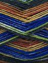 Fiber Content 75% Superwash Wool, 25% Polyamide, Brand Ice Yarns, Green, Brown Shades, Blue, Black, Yarn Thickness 1 SuperFine  Sock, Fingering, Baby, fnt2-67410