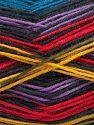 Fiber Content 75% Superwash Wool, 25% Polyamide, Rainbow, Brand Ice Yarns, Black, Yarn Thickness 1 SuperFine  Sock, Fingering, Baby, fnt2-67411