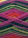 Fiber Content 75% Superwash Wool, 25% Polyamide, Yellow, Salmon, Brand Ice Yarns, Green Shades, Fuchsia, Yarn Thickness 1 SuperFine  Sock, Fingering, Baby, fnt2-67415