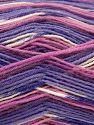 Fiber Content 75% Superwash Wool, 25% Polyamide, White, Pink, Maroon, Lilac, Brand Ice Yarns, Yarn Thickness 1 SuperFine  Sock, Fingering, Baby, fnt2-67416