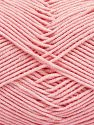 Fiber Content 50% Cotton, 50% Acrylic, Brand Ice Yarns, Baby Pink, Yarn Thickness 2 Fine  Sport, Baby, fnt2-67439