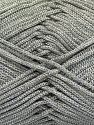 Width is 2-3 mm Fiber Content 100% Polyester, Silver, Light Grey, Brand Ice Yarns, fnt2-67487