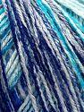 Fiber Content 100% Acrylic, White, Turquoise Shades, Purple, Brand Ice Yarns, fnt2-67736