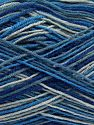 Fiber Content 75% Superwash Wool, 25% Polyamide, Brand Ice Yarns, Grey, Blue Shades, fnt2-67784