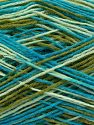 Περιεχόμενο ίνας 75% Superwash Wool, 25% Πολυαμίδη, Turquoise, Brand Ice Yarns, Green Shades, fnt2-67785
