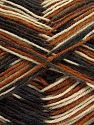 Fiber Content 75% Superwash Wool, 25% Polyamide, Brand Ice Yarns, Cream, Brown Shades, Black, fnt2-67805