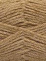 Fiber Content 88% Cotton, 12% Metallic Lurex, Brand Ice Yarns, Dark Cream, fnt2-67830