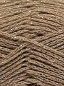 Fiber Content 88% Cotton, 12% Metallic Lurex, Light Camel, Brand Ice Yarns, fnt2-67831