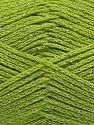 Fiber Content 88% Cotton, 12% Metallic Lurex, Pistachio Green, Brand Ice Yarns, fnt2-67841