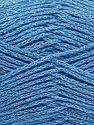 Fiber Content 88% Cotton, 12% Metallic Lurex, Light Blue, Brand Ice Yarns, fnt2-67843