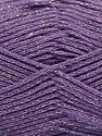 Fiber Content 88% Cotton, 12% Metallic Lurex, Lilac, Brand Ice Yarns, fnt2-67844