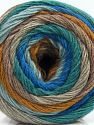 Fiber Content 50% Acrylic, 50% Wool, Turquoise, Brand Ice Yarns, Camel, Blue Shades, Beige, fnt2-67902